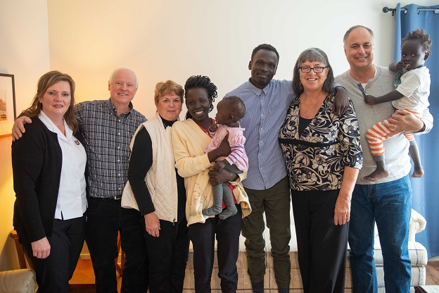 Sudan Refugee Family with supporters from Ottawa