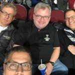 A selfie of a group of men who attended the Ottawa 67's game.