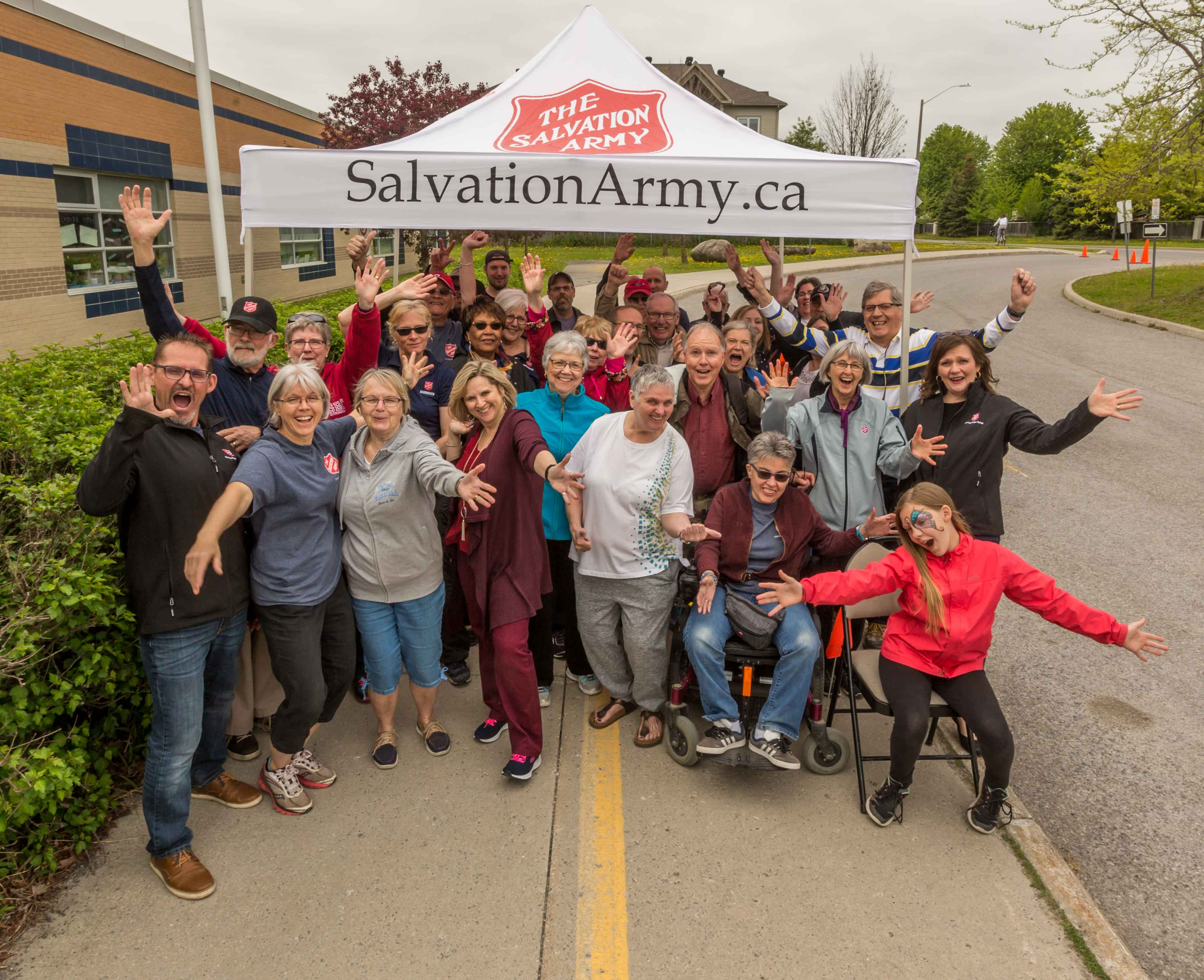 Volunteers from The Salvation Army Barrhaven Church pose for a group photo at The Big Give.