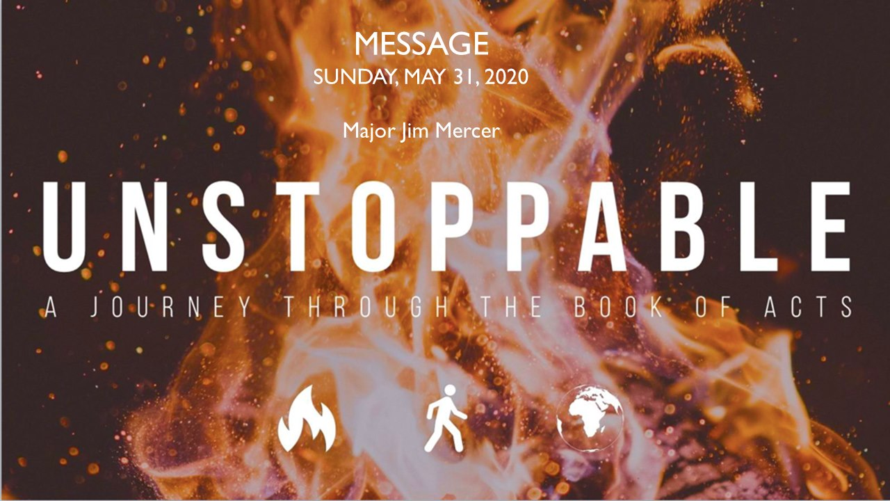 Sunday Message May 31, 2020