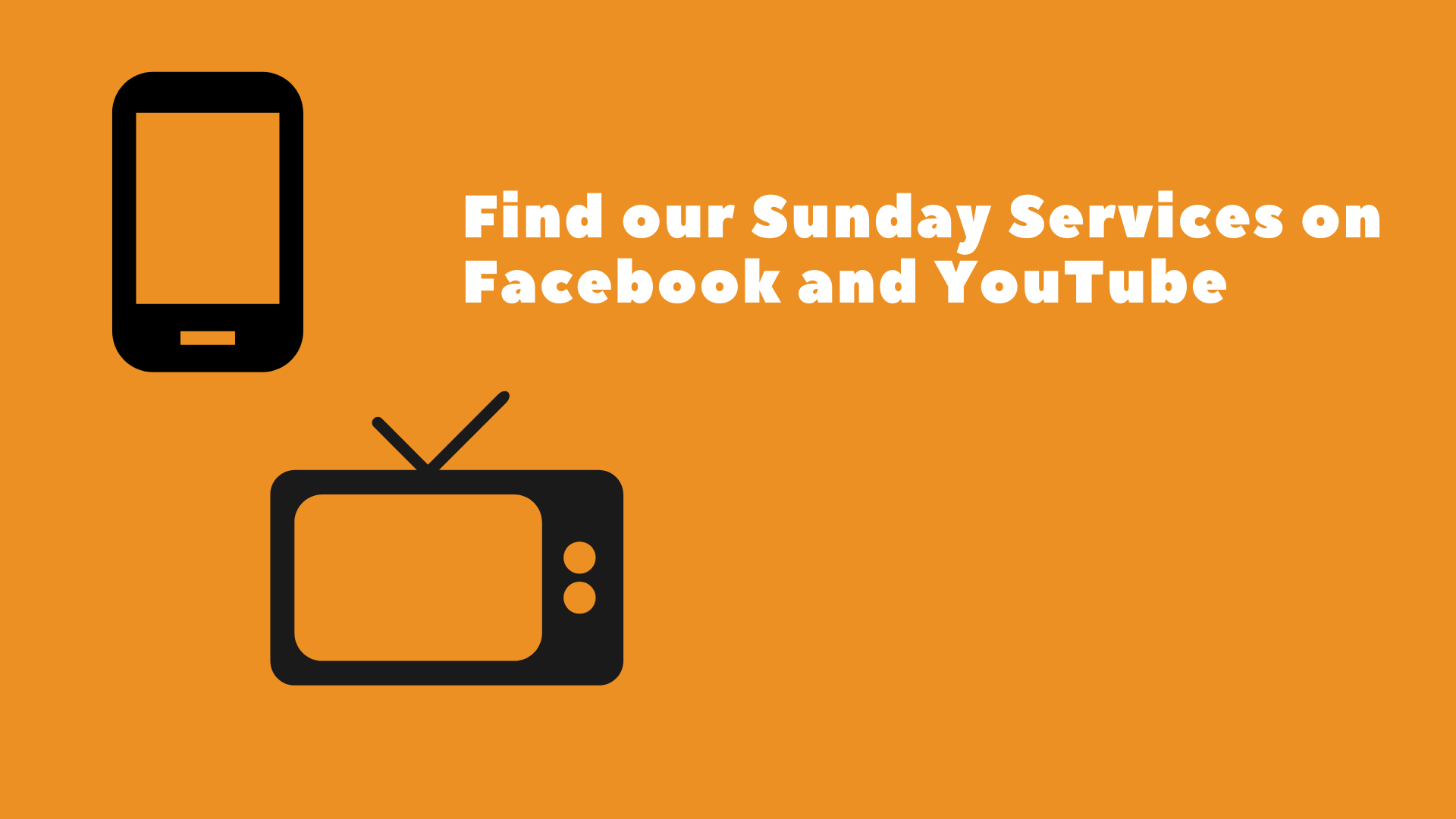 Sunday Services on YouTube and Facebook